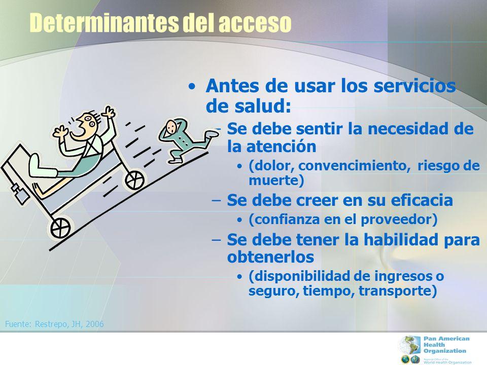 Determinantes del acceso
