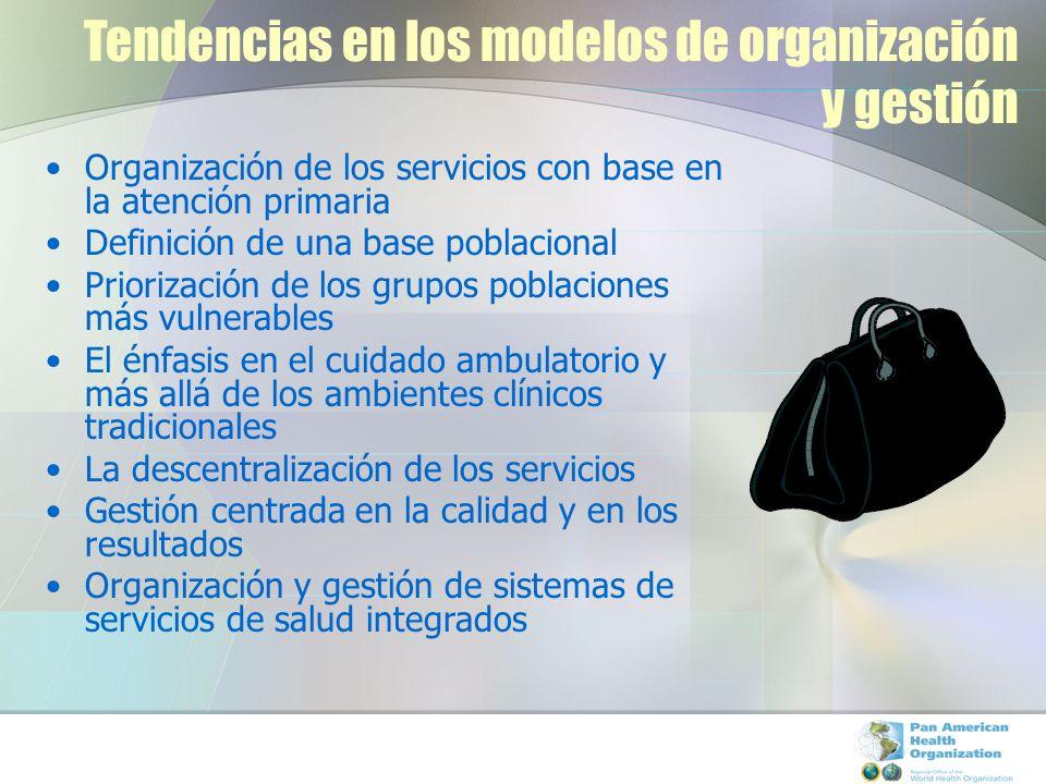 Tendencias en los modelos de organización y gestión