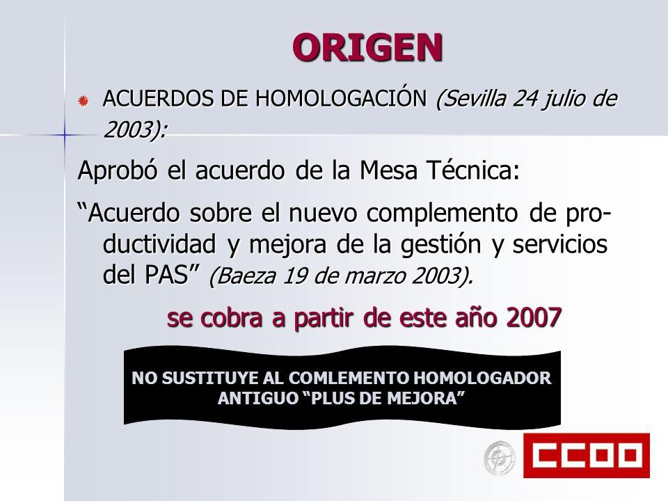 NO SUSTITUYE AL COMLEMENTO HOMOLOGADOR ANTIGUO PLUS DE MEJORA