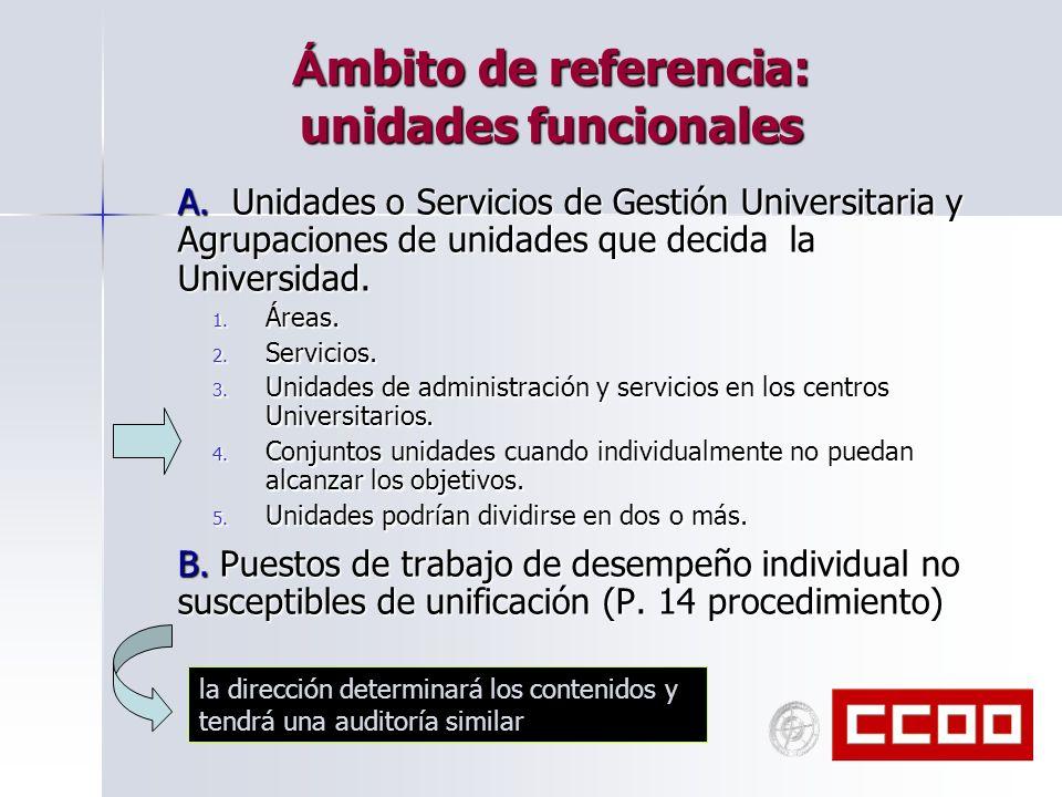 Ámbito de referencia: unidades funcionales