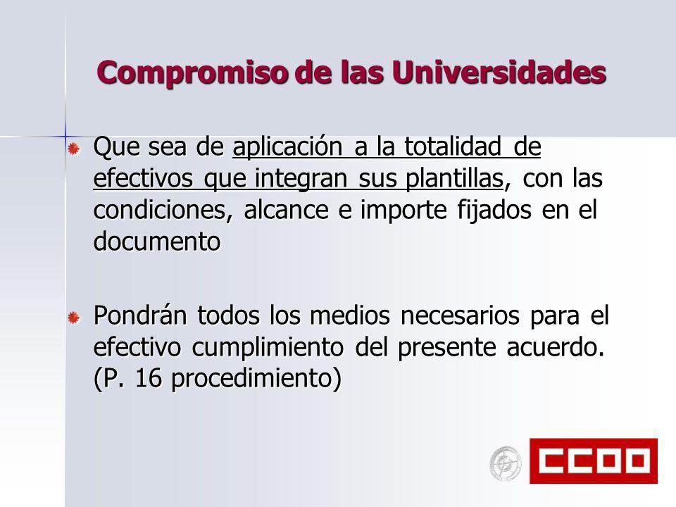 Compromiso de las Universidades