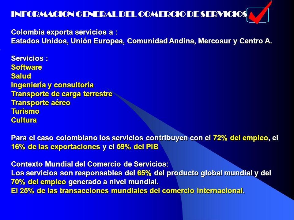 INFORMACION GENERAL DEL COMERCIO DE SERVICIOS