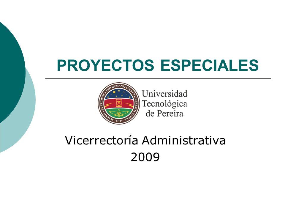 Vicerrectoría Administrativa 2009