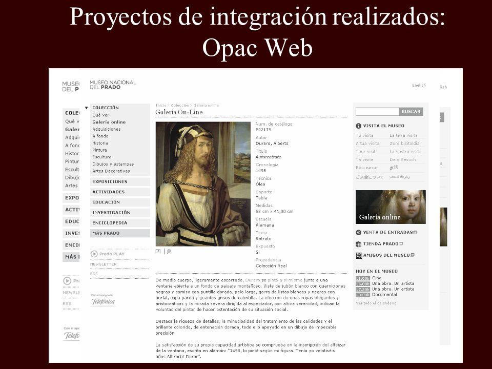 Proyectos de integración realizados: Opac Web