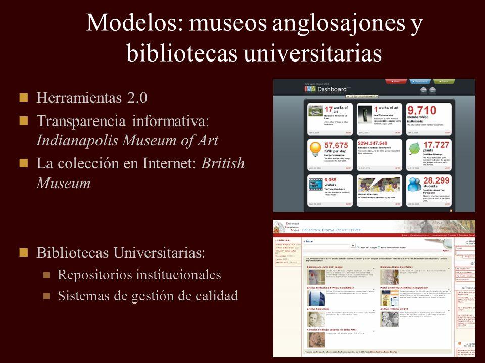 Modelos: museos anglosajones y bibliotecas universitarias
