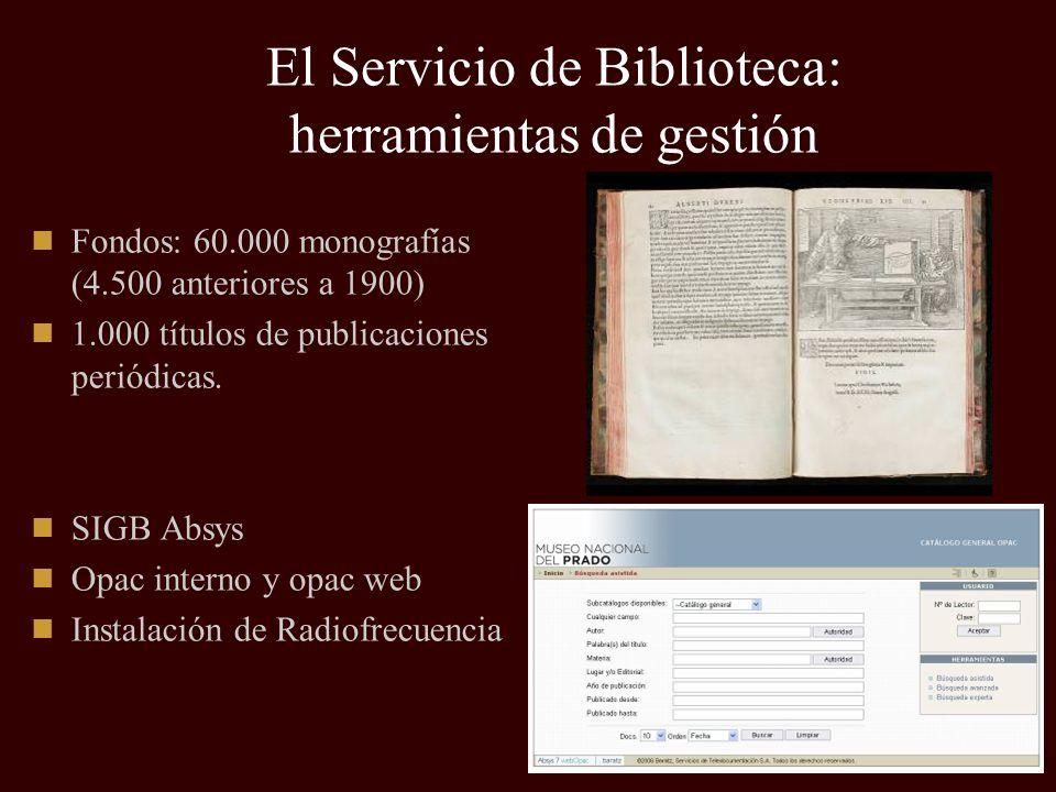 El Servicio de Biblioteca: herramientas de gestión