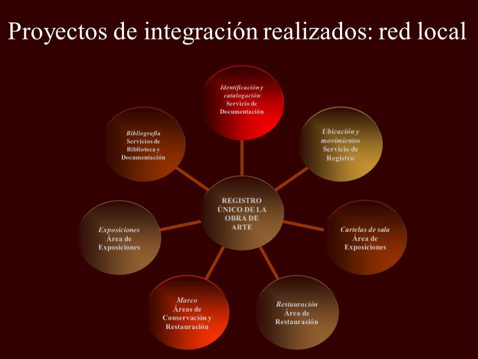Proyectos de integración realizados: red local