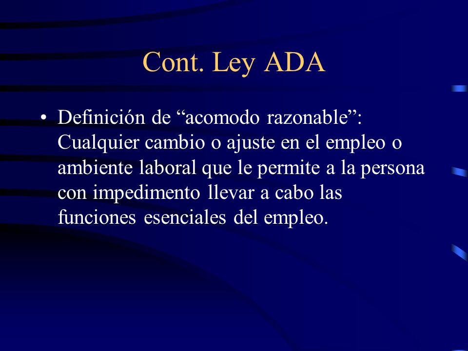Cont. Ley ADA