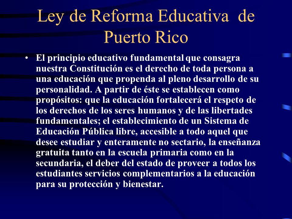 Ley de Reforma Educativa de Puerto Rico