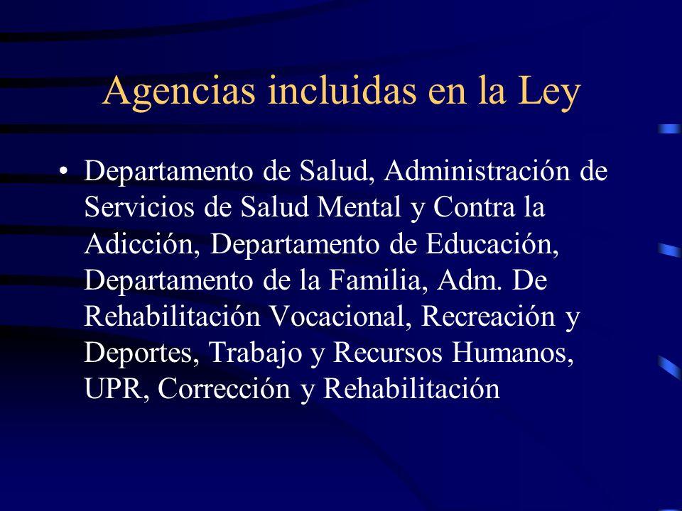 Agencias incluidas en la Ley