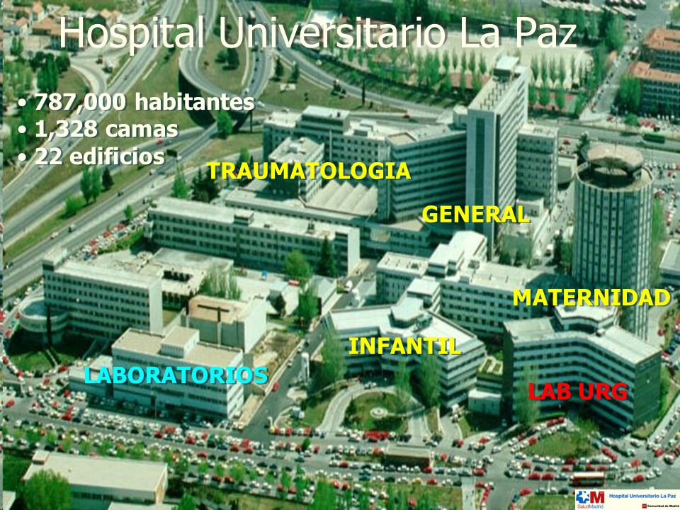 Hospital Universitario La Paz: laboratorio de urgencias