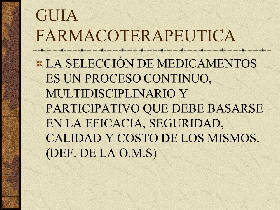 GUIA FARMACOTERAPEUTICA
