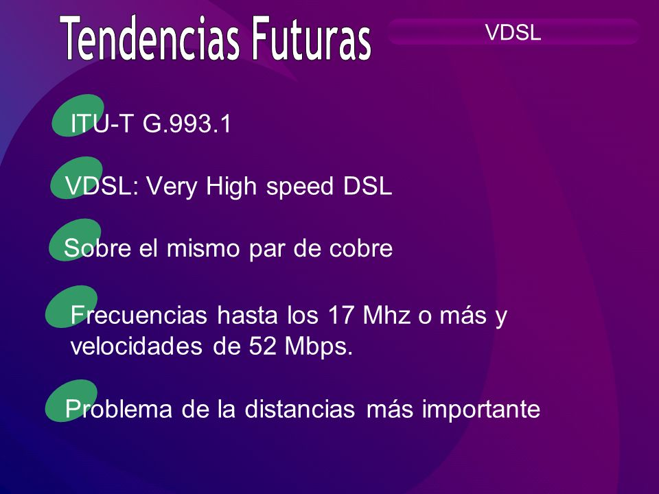 VDSL: Very High speed DSL