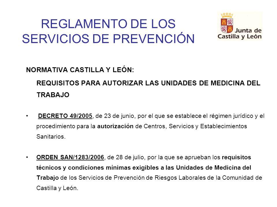 REGLAMENTO DE LOS SERVICIOS DE PREVENCIÓN