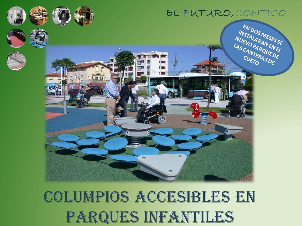 COLUMPIOS ACCESIBLES EN PARQUES INFANTILES