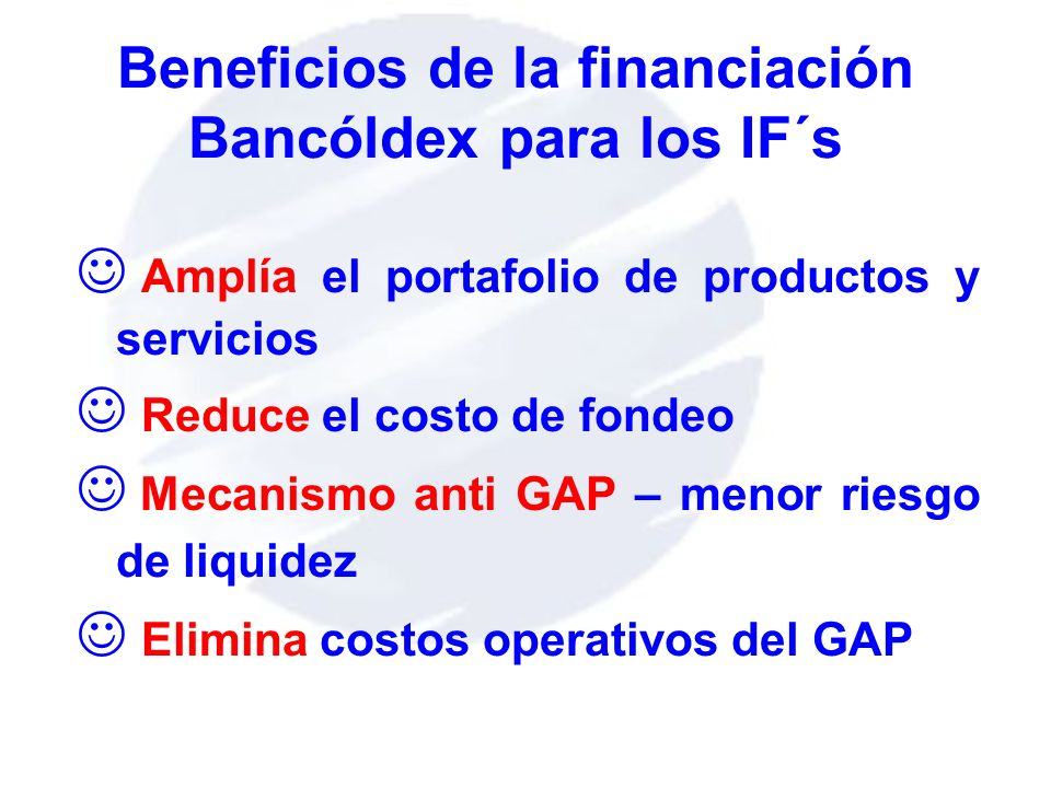 Beneficios de la financiación Bancóldex para los IF´s