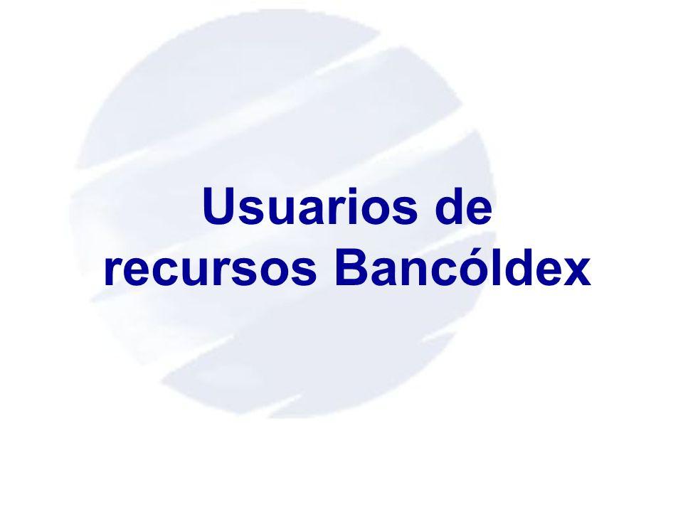 Usuarios de recursos Bancóldex