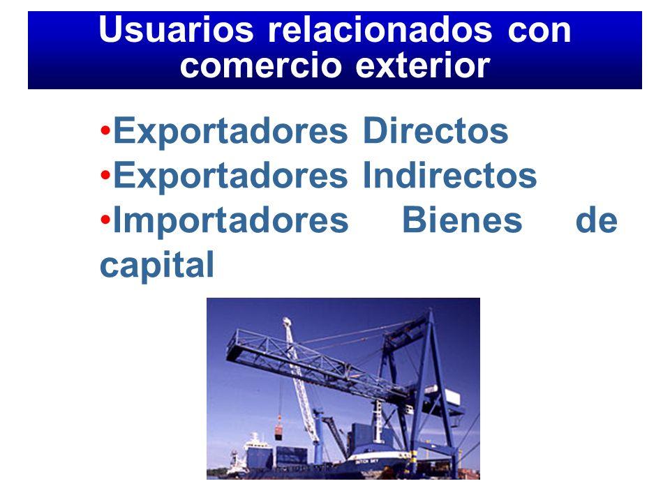 Usuarios relacionados con comercio exterior