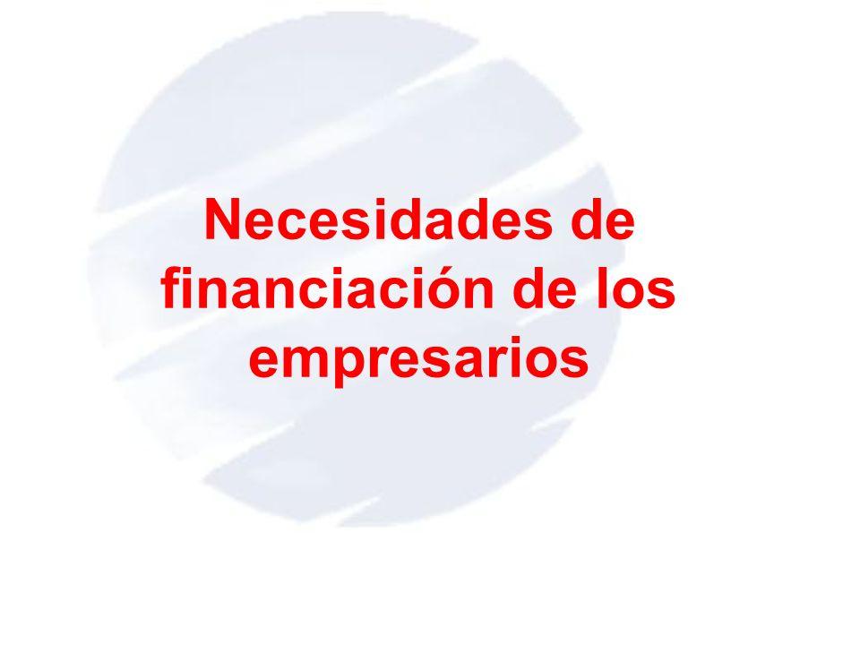 Necesidades de financiación de los empresarios