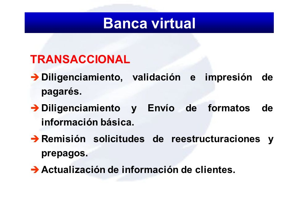 Banca virtual TRANSACCIONAL