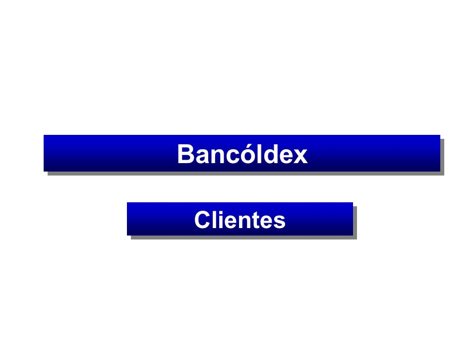 Bancóldex Clientes