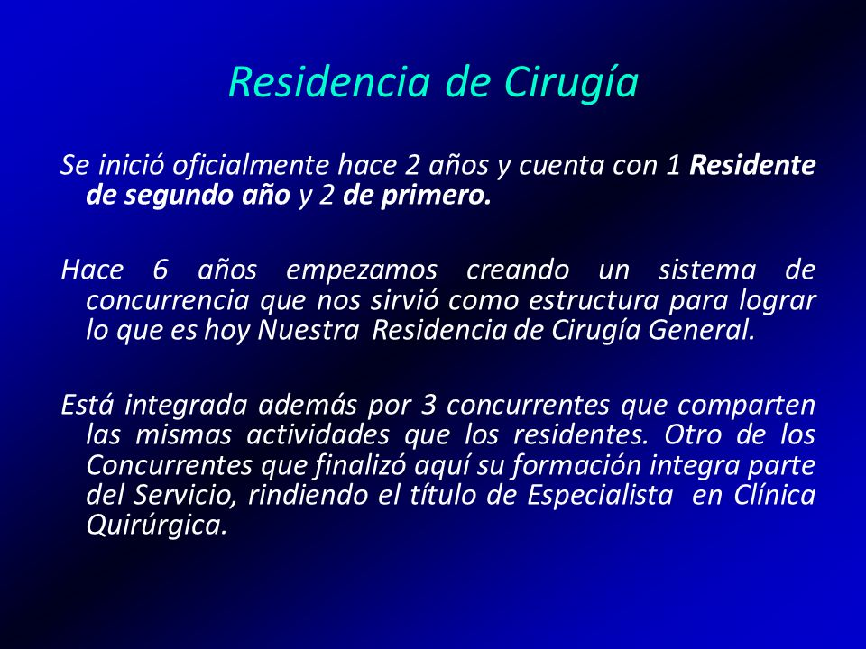 Residencia de Cirugía