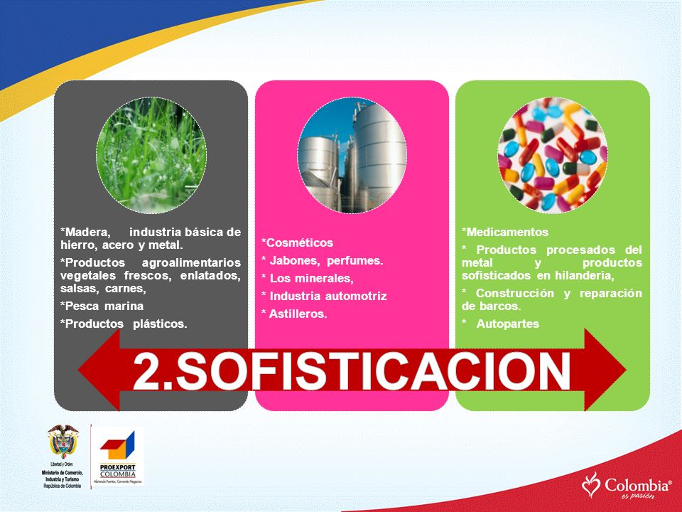 2.SOFISTICACION *Productos plásticos. *Pesca marina