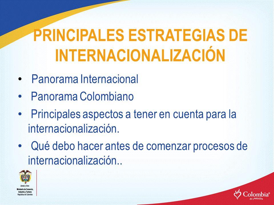 PRINCIPALES ESTRATEGIAS DE INTERNACIONALIZACIÓN