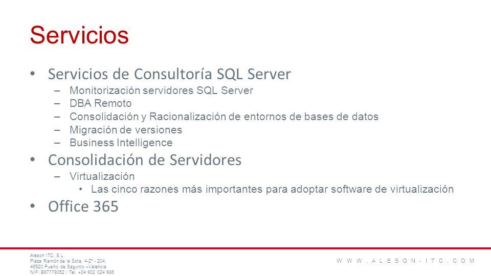 Servicios Servicios de Consultoría SQL Server