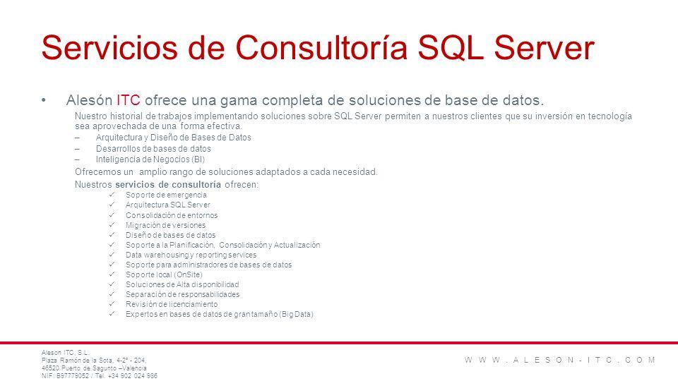 Servicios de Consultoría SQL Server