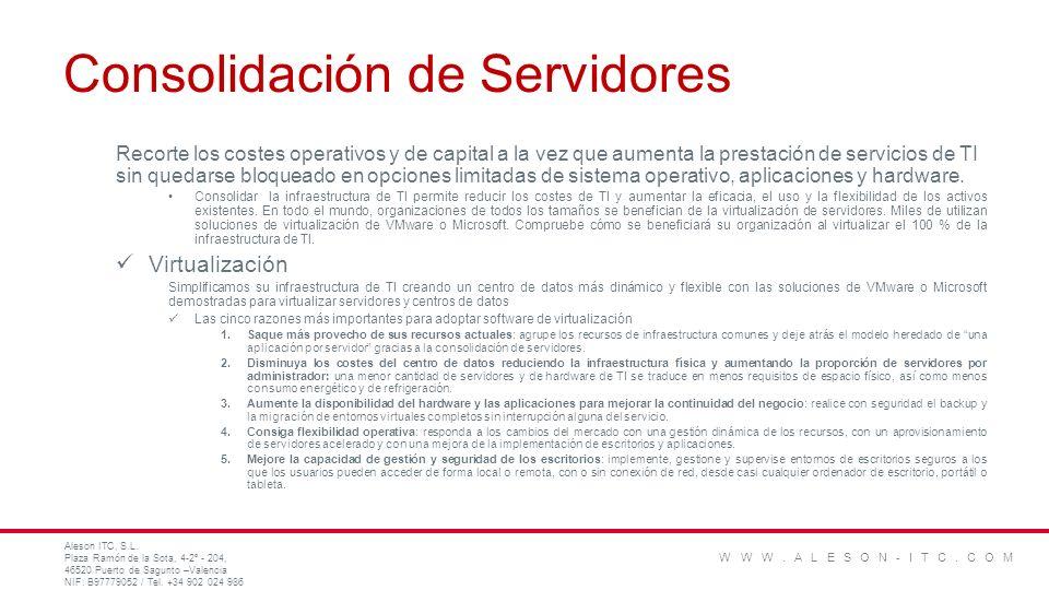 Consolidación de Servidores