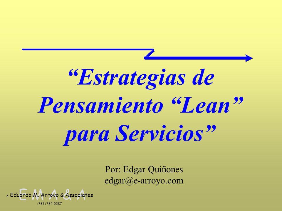 Estrategias de Pensamiento Lean para Servicios