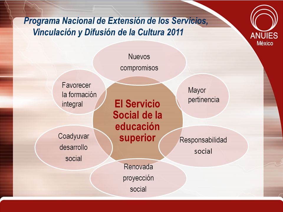 El Servicio Social de la educación superior