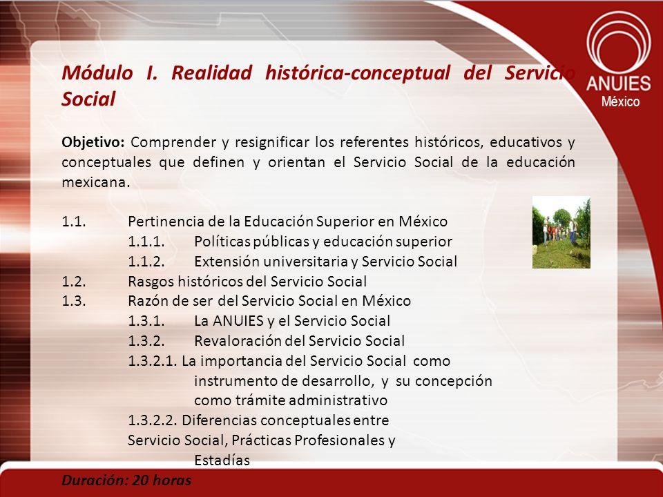 Módulo I. Realidad histórica-conceptual del Servicio Social