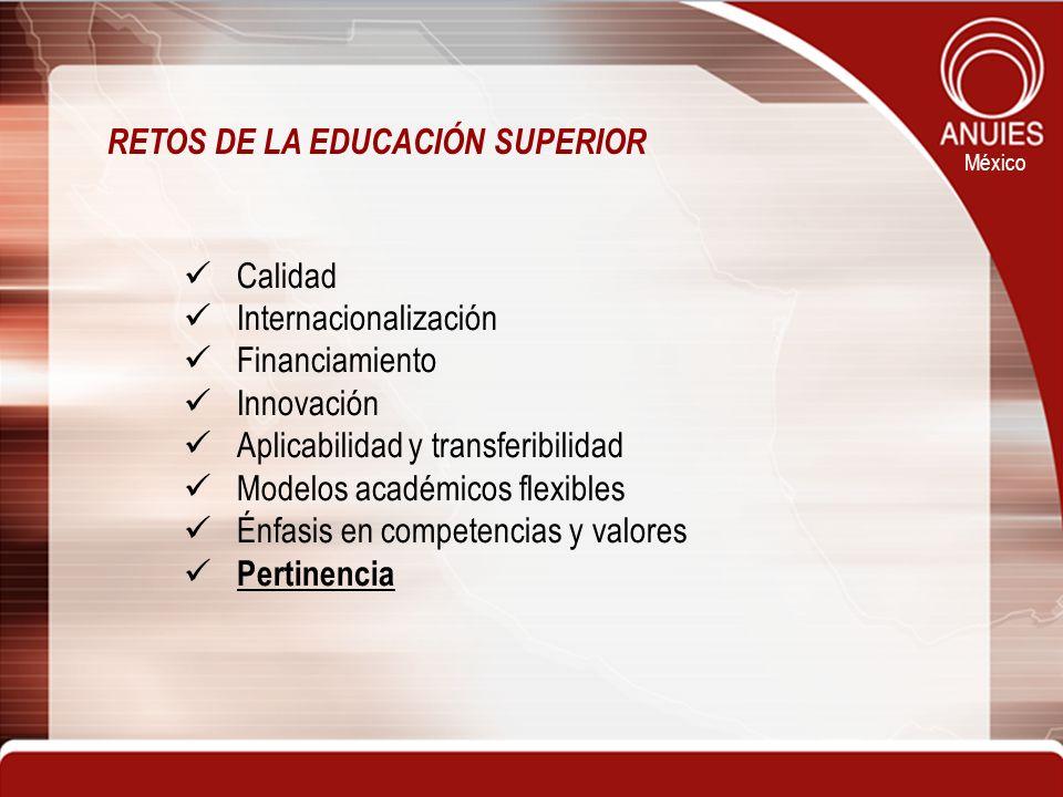 RETOS DE LA EDUCACIÓN SUPERIOR