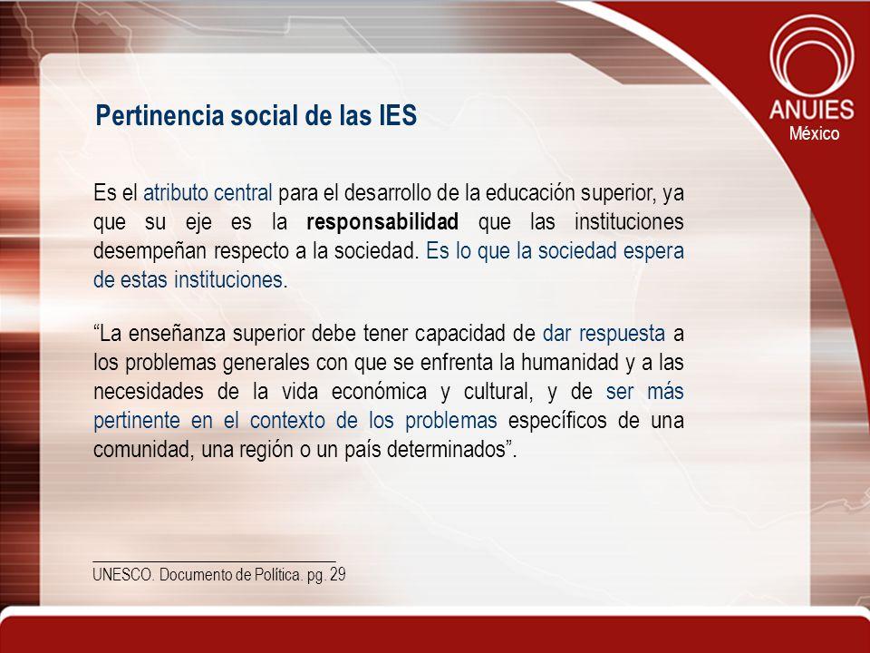 Pertinencia social de las IES