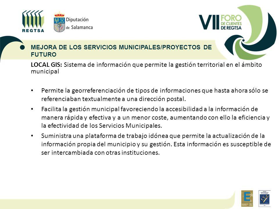 MEJORA DE LOS SERVICIOS MUNICIPALES/PROYECTOS DE FUTURO