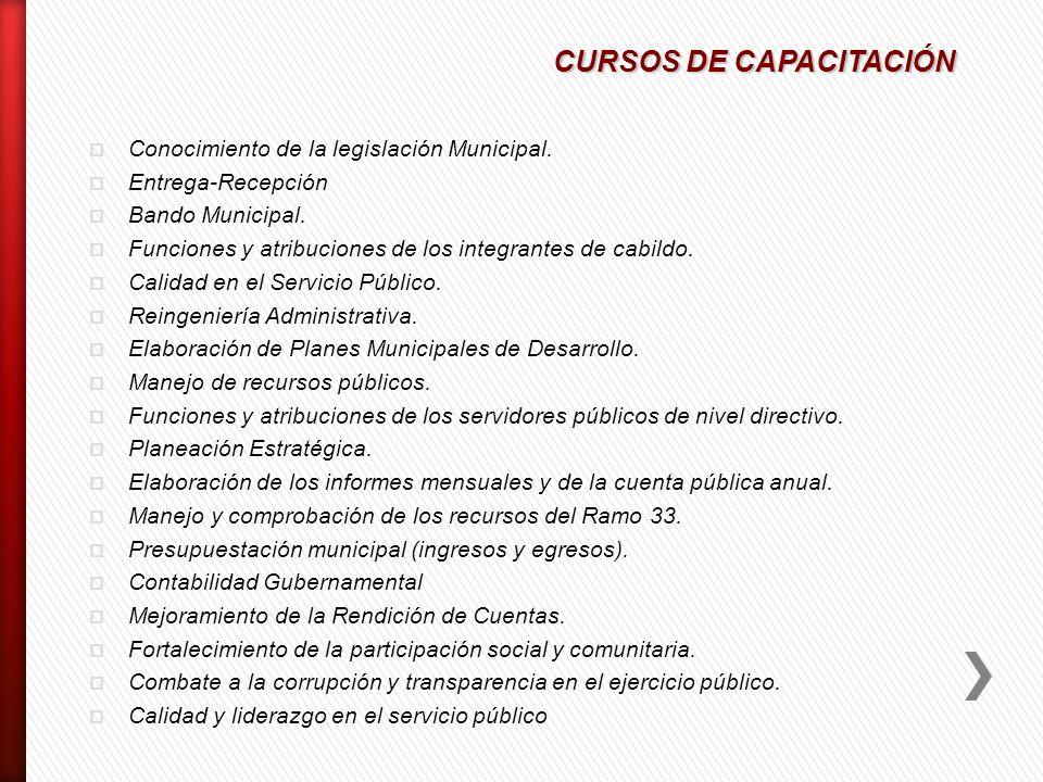 CURSOS DE CAPACITACIÓN