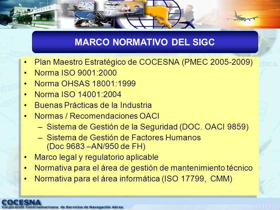 MARCO NORMATIVO DEL SIGC