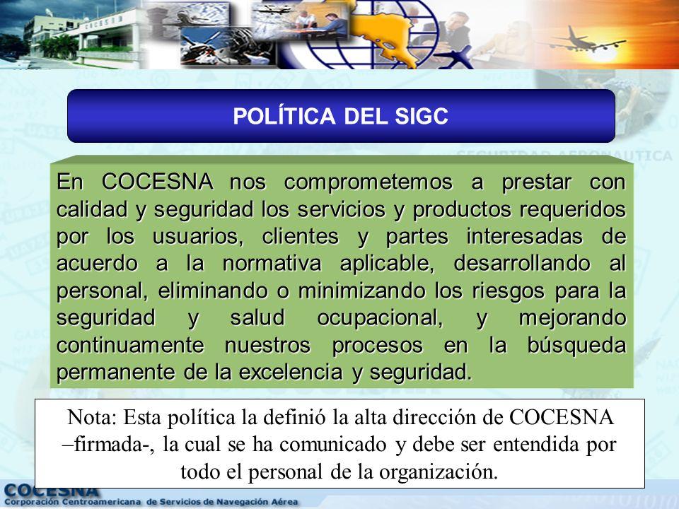 POLÍTICA DEL SIGC