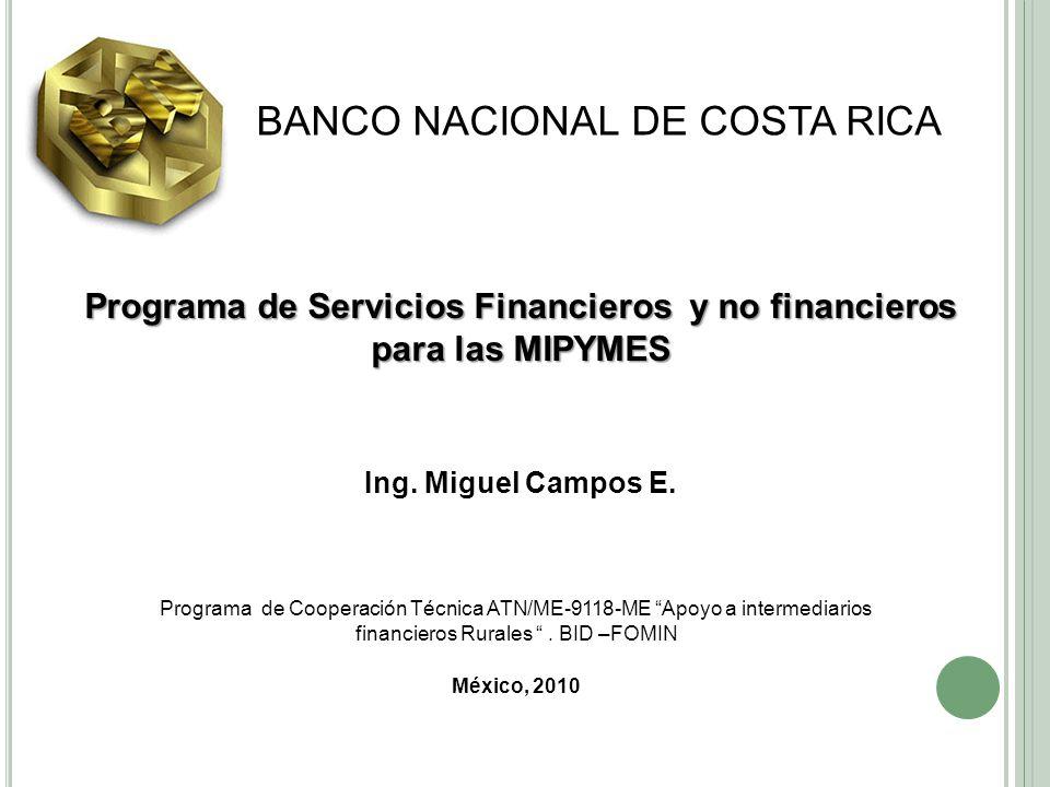 Programa de Servicios Financieros y no financieros