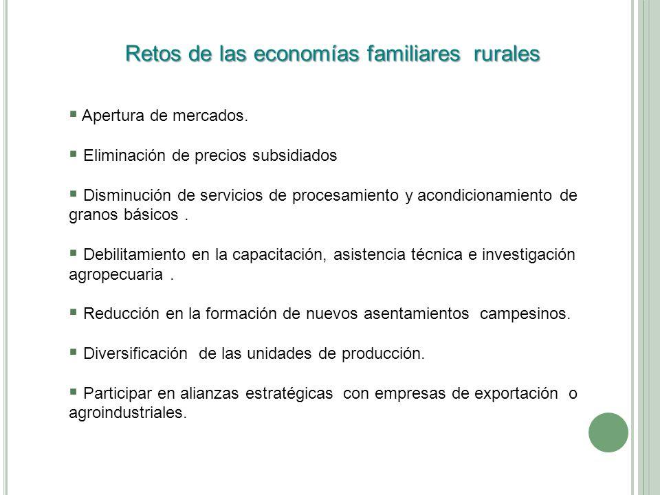 Retos de las economías familiares rurales