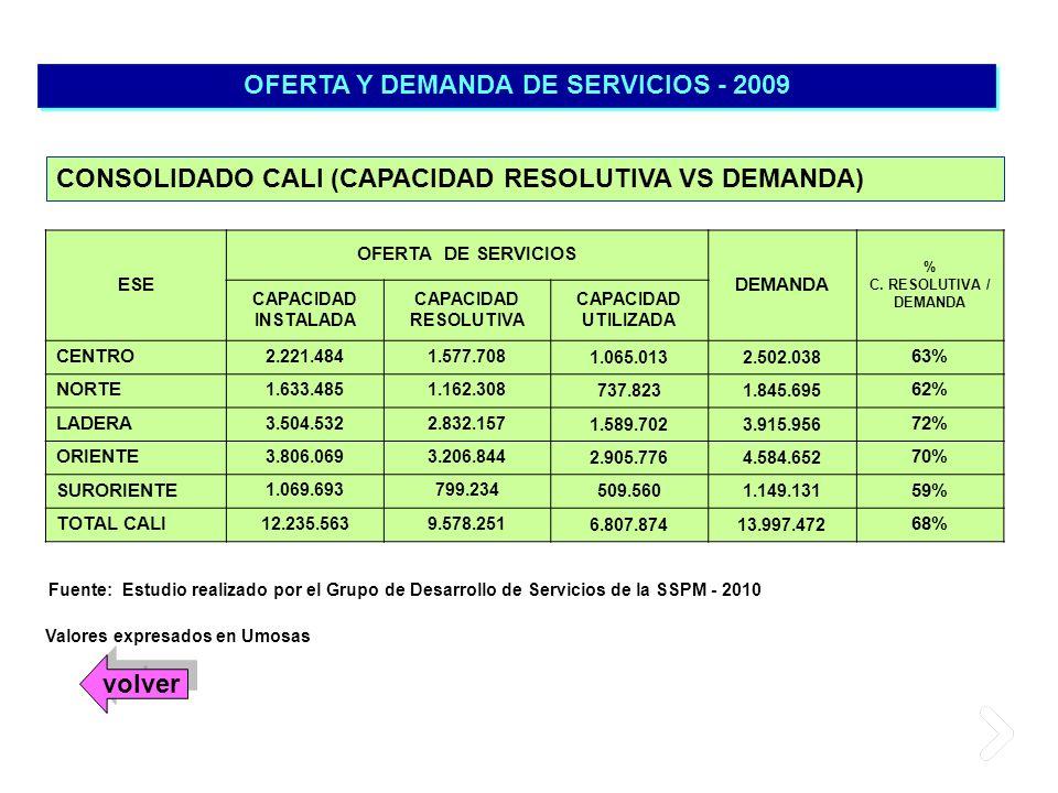 OFERTA Y DEMANDA DE SERVICIOS - 2009