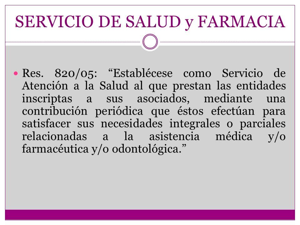 SERVICIO DE SALUD y FARMACIA