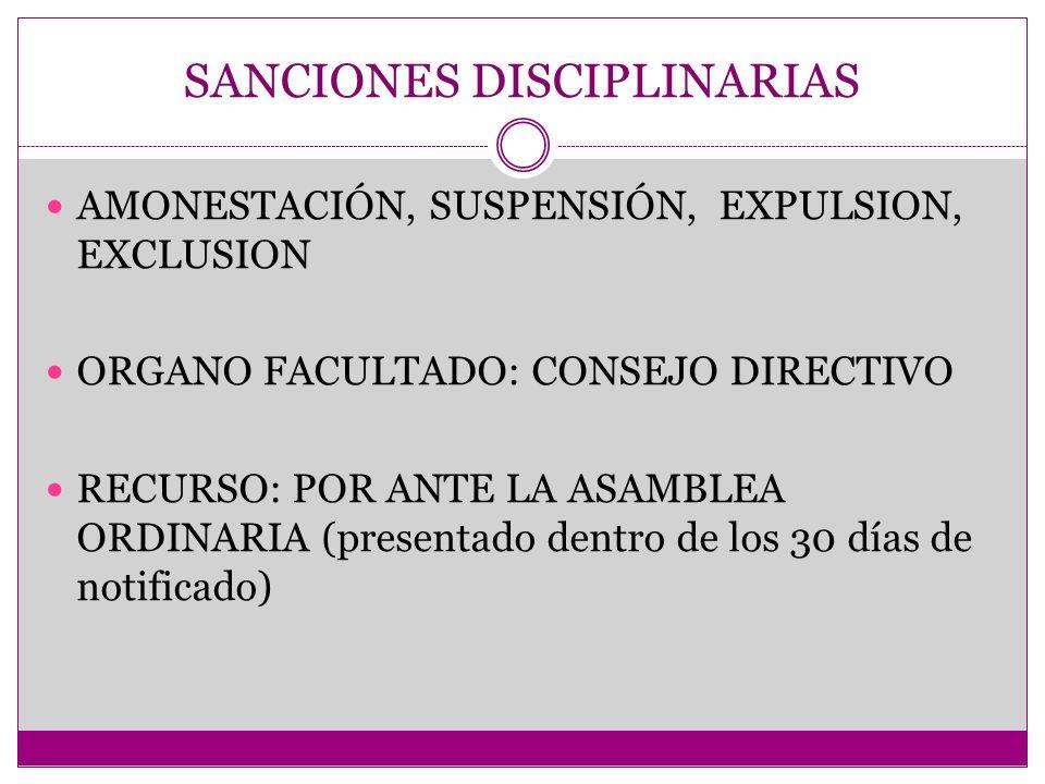 SANCIONES DISCIPLINARIAS