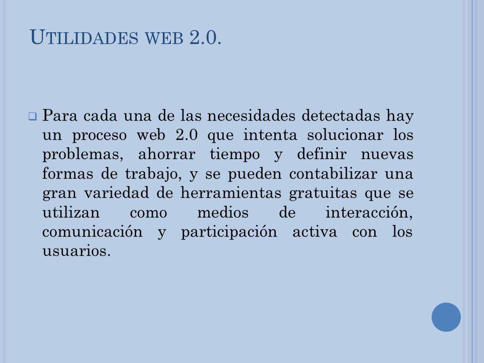 Utilidades web 2.0.