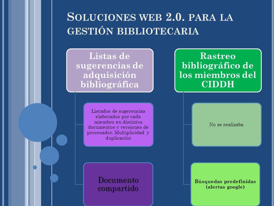 Soluciones web 2.0. para la gestión bibliotecaria