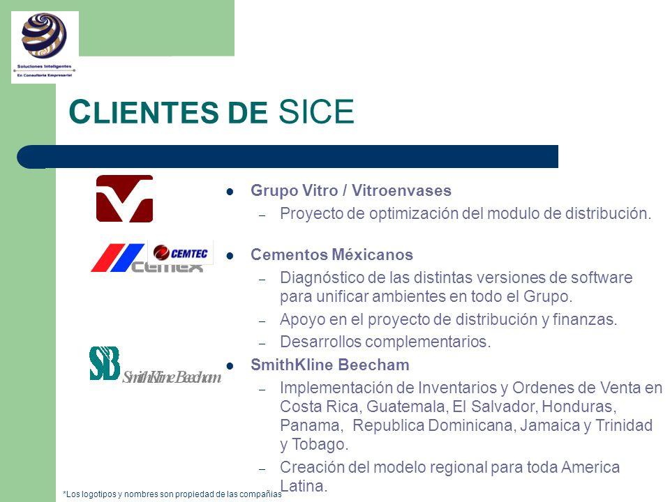 CLIENTES DE SICE Grupo Vitro / Vitroenvases