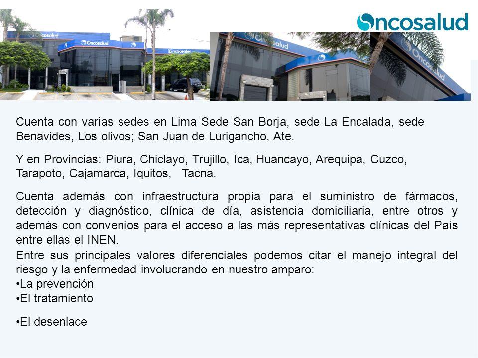 Cuenta con varias sedes en Lima Sede San Borja, sede La Encalada, sede Benavides, Los olivos; San Juan de Lurigancho, Ate.