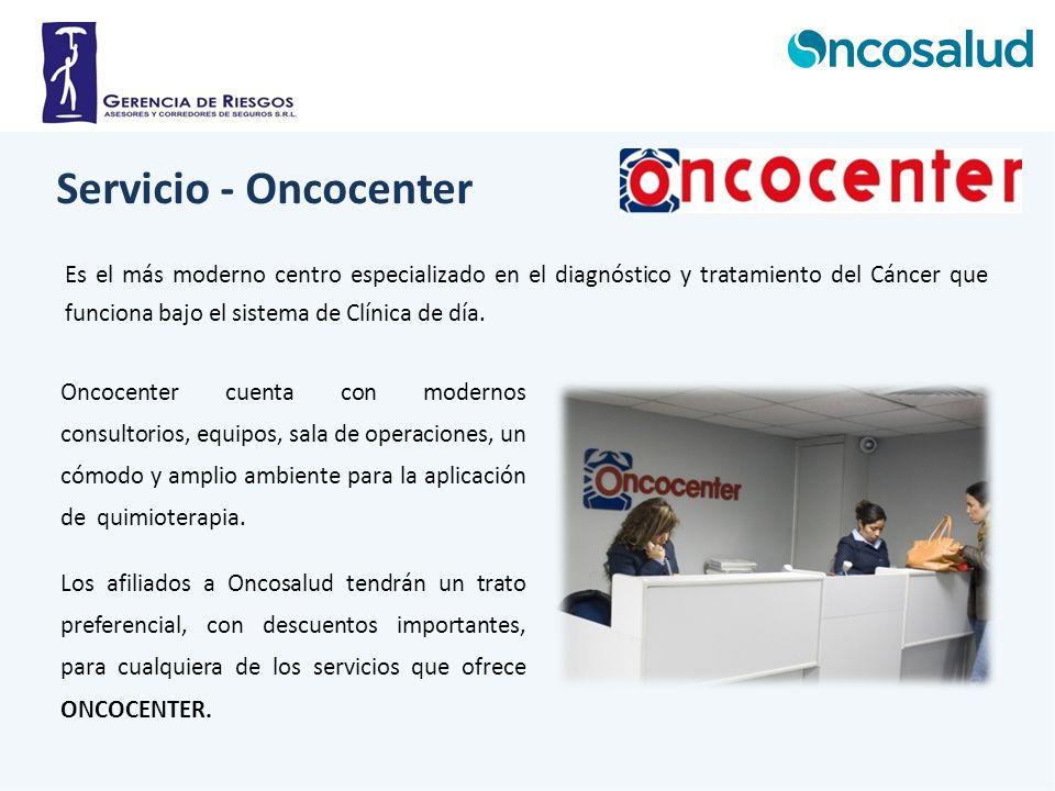 Servicio - Oncocenter